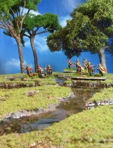 Scutati Scutarii 15mm Corvus Belli marshland swamp