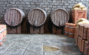 Dwarves keep their beer cellars nice and tidy. After all they have to get down there drunk to get more barrels for the feast, so any rubble would be a potential faceplant.