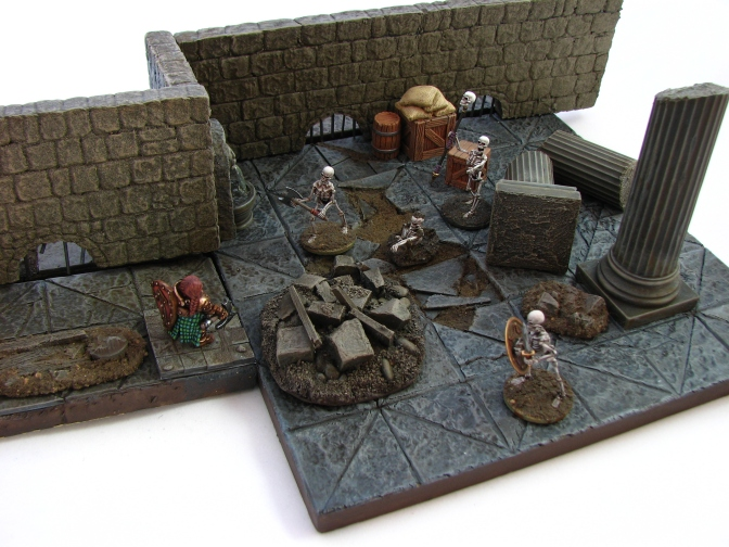 28mm Dungeon Crawl Wargaming 3-D tiles modular
