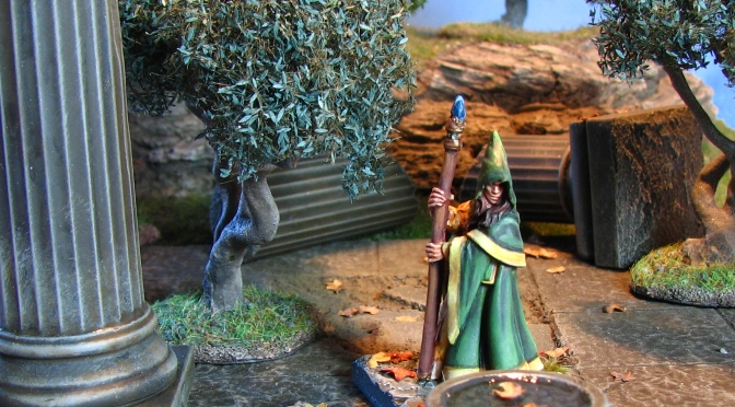 Of ruins old –  Reaper Bones Anirion Wood Elf Wizard review and painted example