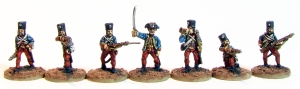 The blue might be a tad too light to represent the historical uniform colour properly, but I aimed for more contrast.