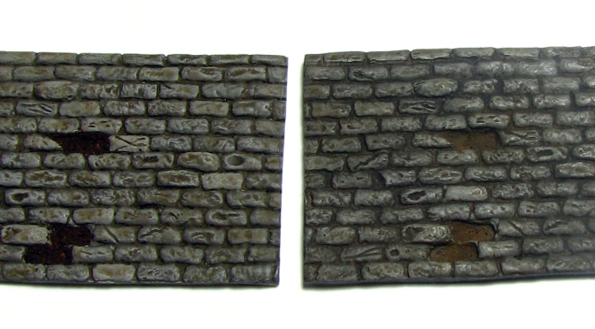 Pressure Mold, Brick Wall, 28mm, Dungeon, Sculpey
