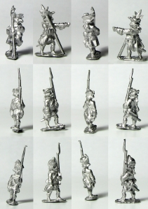Battleline Miniatures French Infantry in Turnback bare metal