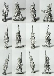 Battleline Miniatures French Infantry in Turnback bare metal