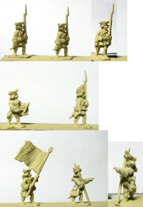 Battleline Miniatures French Infantry in turnbacks primed