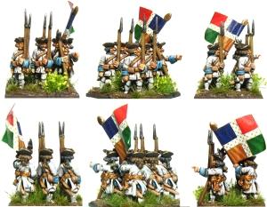 French Turnback Battleline painted
