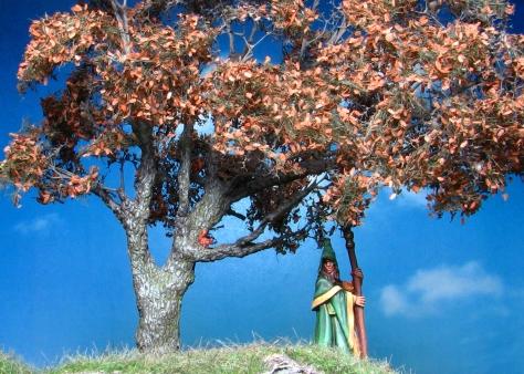 Oak Tree, 28mm, 15mm, Squirrels, MiniNatur, Silflor, bark, Anirion