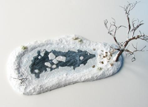 Snow Terrain, 28mm, 15mm, Frozen Lake, snow covered barren tree