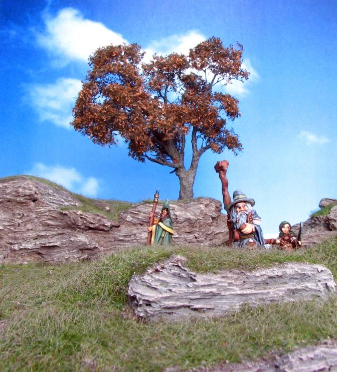Khael Stonekindle, Berry Silverbell, Anirion, Mountain, Highlands, Oak Tree