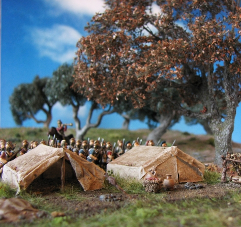 Carthaginian Field Camp, 15mm, Tents, Oak Tree
