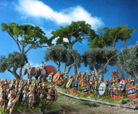 Corvus Belli, Xyston, Scutati, Scutarii, Caetrati, Elephants, 15mm, Freehand