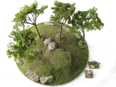 Wargaming Terrain Mediterranean Pine Tree Scenic Base MiniNatur foliage 15mm 28mm