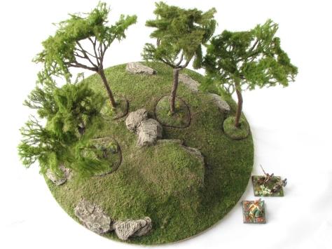 Wargaming Terrain Mediterranean Pine Tree Scenic Base MiniNatur foliage 15mm 28mm