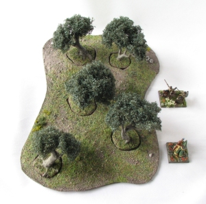 Wargaming Terrain Olive Tree Scenic Base MiniNatur foliage 15mm 28mm