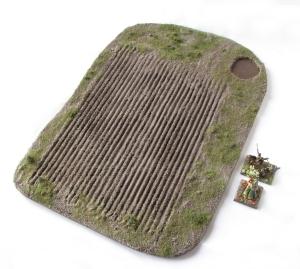 Wargaming Terrain Ploughed Field Mediterranean Pine Tree Scenic Base MiniNatur foliage 15mm 28mm
