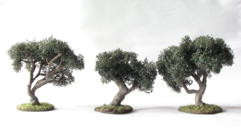 Wargaming Terrain Olive Tree Scenic Base MiniNatur foliage 15mm 28mm
