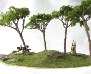 Mediterranean Pine Trees Mini Natur Scenic Base