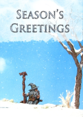 Dwarf, Snow, Reaper, Christmas Card