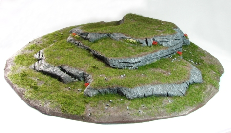 Wargaming, Hill, 15mm, 28mm, cliff, styrofoam,, large