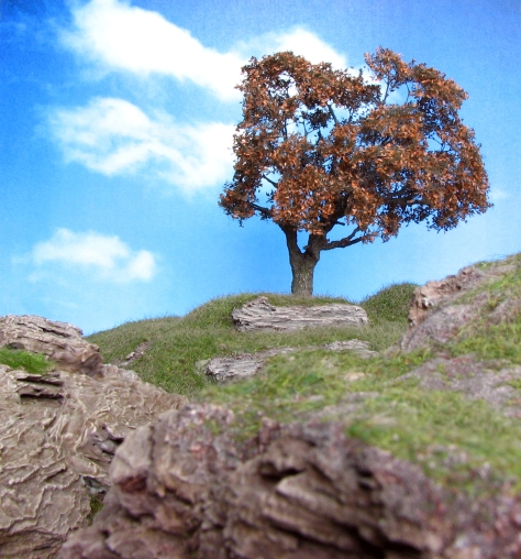 Wargaming, Hill, 15mm, 28mm, cliff, bark, oak, autumn