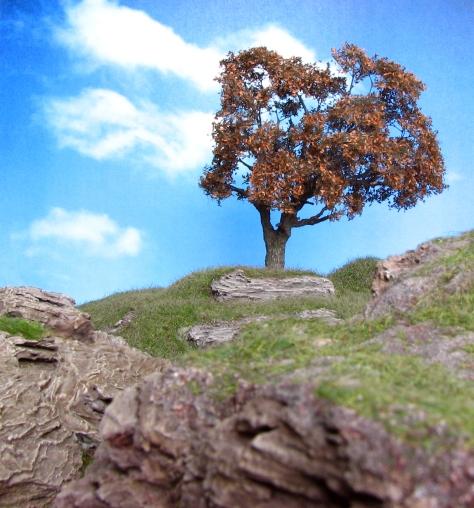 Wargaming, Hill, 15mm, 28mm, cliff, bark, oak, autumn