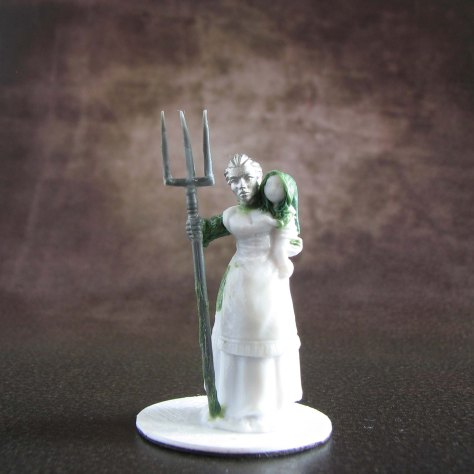 Reaper Bones, Townsfolk, Conversions, Mother with child, Pitchfork, Statuesque heads