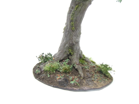 wargaming terrain, oak tree, scenic base, tutorial, realistic bark