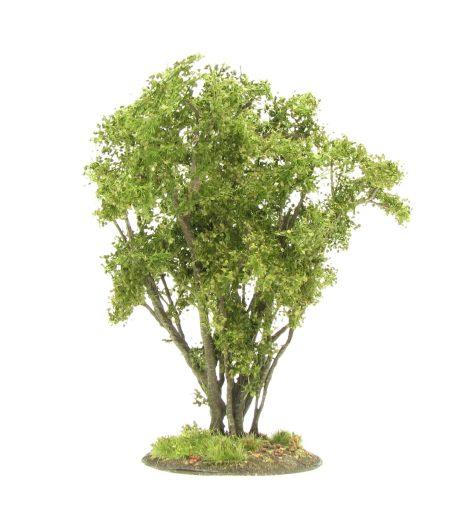 Medium hazel bush, tutorial, wargaming terrain