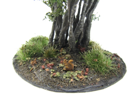 Hazel bush, wargaming terrain, scenic base, squirrel