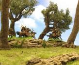 15mm, Corvus Belli, Iberia cavalry, olive trees, scenic photography, wargaming