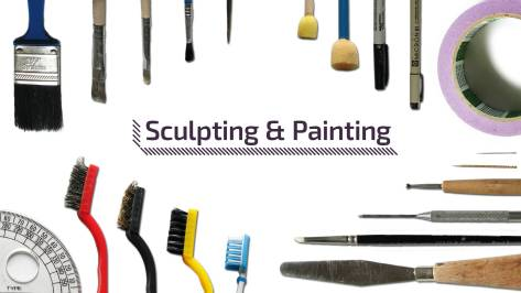 Tools for sculpting, painting and engraving, Wargaming, Terrain building