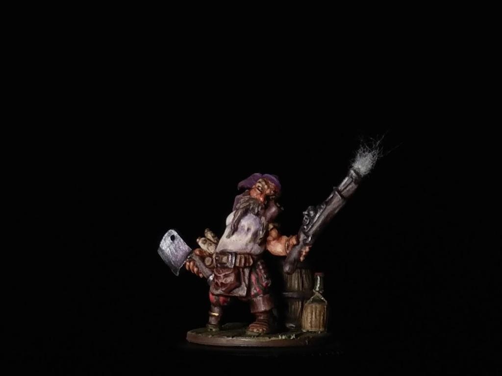 Gruff Grimecleaver. Reaper Miniatures. Dwarf Pirate.