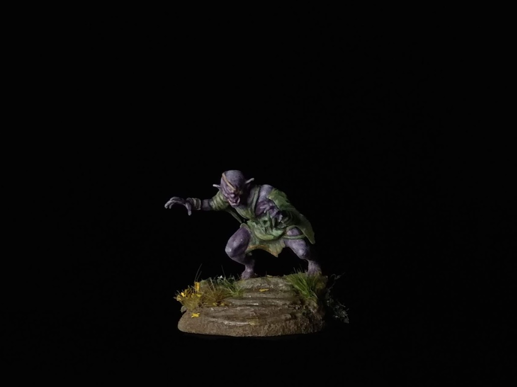 Vampire Thrall conversion. Mantic Ghoul. Warlord Orc.