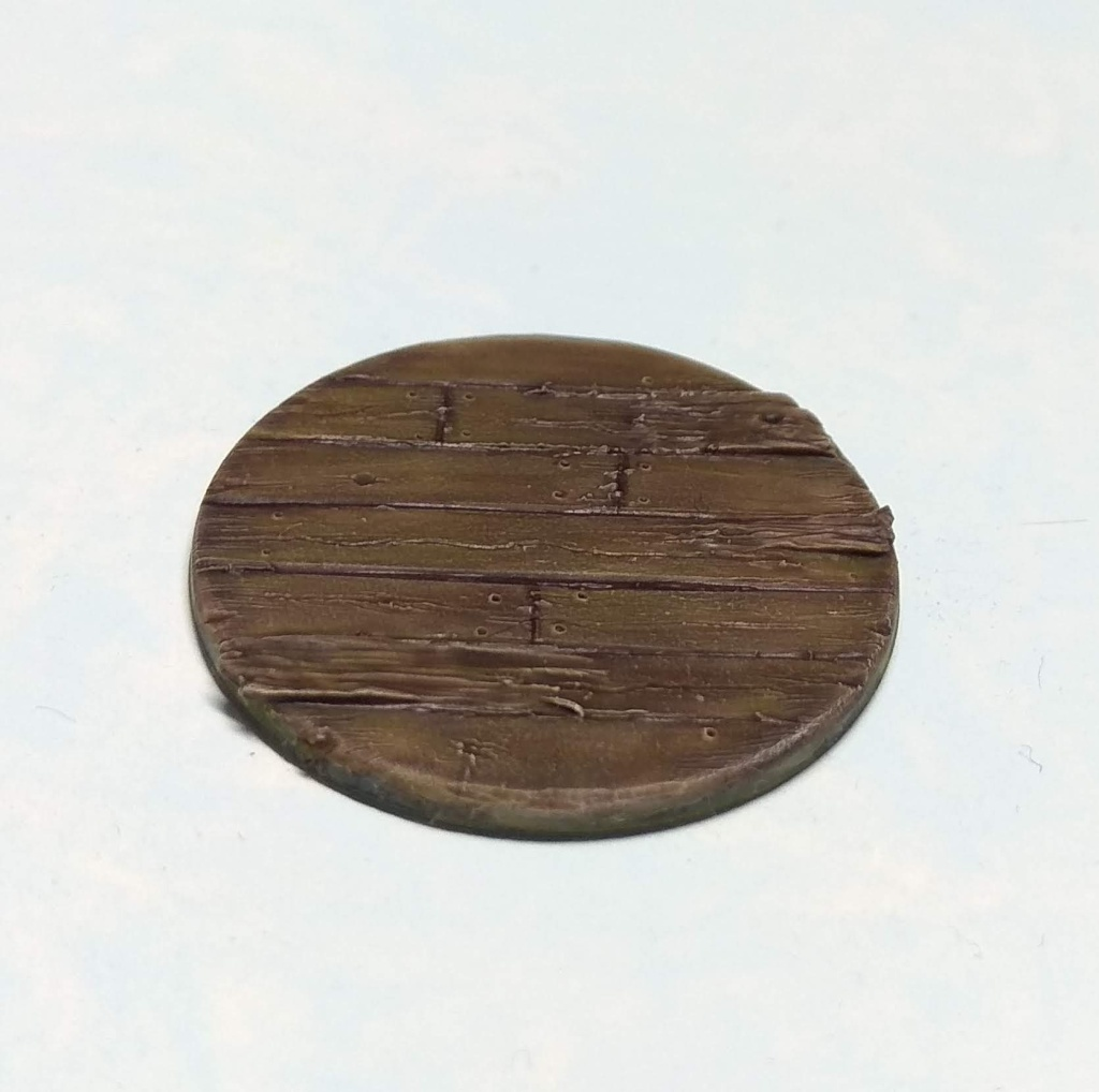 28mm wood planks base. Ship base.