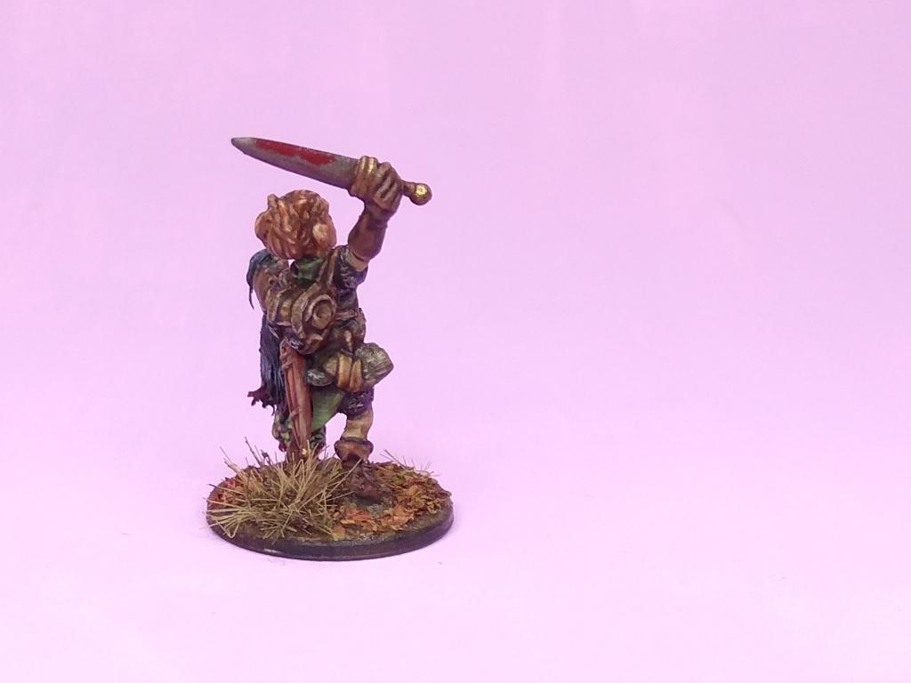 Elliwyn Heatherlar, Reaper Miniatures, Nure-onna, Gnome fighter, monster hunter, 28mm
