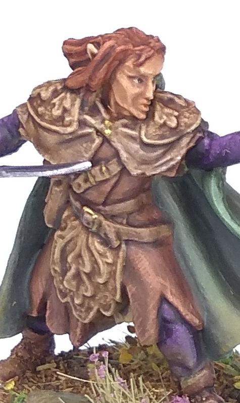 Elladan Elf Ranger, Reaper Miniatures, 28mm, worn leather textures